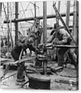 Oil Rig Workers, Called Roughnecks Acrylic Print