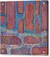 Oil Soaked Bricks Acrylic Print