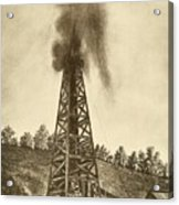 Oil Well With A Gusher In The Oil Acrylic Print