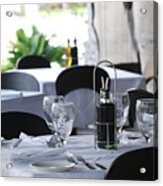 Oils And Glass At Dinner Acrylic Print