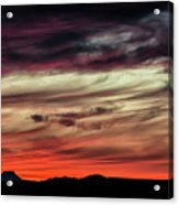 Ojo Caliente Sunset Acrylic Print