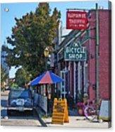 Ok Bicycle Yellow Sign Acrylic Print