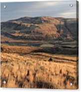 Okanagan Valley Sunset Glow Acrylic Print