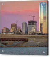 Okc Sunset Acrylic Print