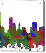Oklahoma City Skyline Painted Acrylic Print