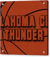 Oklahoma City Thunder Leather Art Acrylic Print