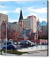 Oklahoma City Wide Angle Acrylic Print