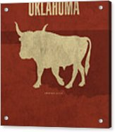 Oklahoma State Facts Minimalist Movie Poster Art Acrylic Print