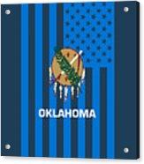 Oklahoma State Flag Graphic Usa Styling Acrylic Print