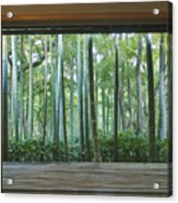 Okochi Sanso Villa Bamboo Garden Acrylic Print by Rob Tilley