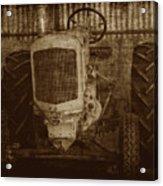 Ol Yeller In Sepia Acrylic Print