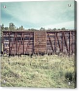 Old Abandoned Box Cars Central Vermont Acrylic Print