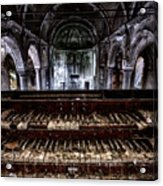 Old Abandoned Church Organ In Decay Acrylic Print