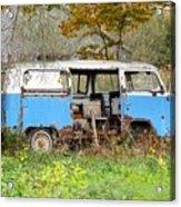 Old Abandoned Hippie Van Acrylic Print