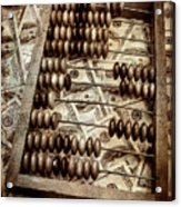 Old Accounting Wooden Abacus Acrylic Print