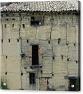Old Adobe Building In Otavalo Acrylic Print