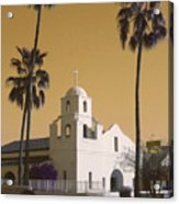 Old Adobe Mission Poster Acrylic Print