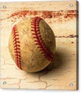 Old American Baseball Acrylic Print