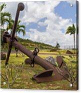 Old Anchor In Kauai Acrylic Print