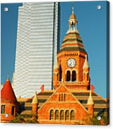 Old And New In Dallas Acrylic Print