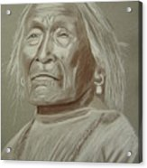Old Apache Scout Acrylic Print