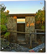 Old Army Lookout In Sunset Hour Acrylic Print