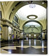 Old Barcelona Train Station Acrylic Print