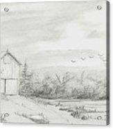 Old Barn 2 Acrylic Print by BJ Shine