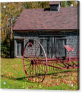 Old Barn And Rusty Farm Implement 02 Acrylic Print