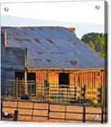 Old Barn At Sunset Acrylic Print