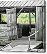 Old Barn At The Farm On Sunny Day Acrylic Print