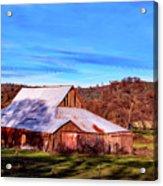 Old Barn In California Acrylic Print