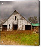 Old Barn In The Storm Acrylic Print