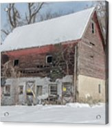 Old Barn In Upper Roxborough In The Snow Acrylic Print