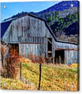Old Barn In West Virginia Mountains 4836 Fusedt Acrylic Print