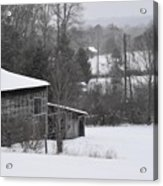 Old Barn In Winter Scenery Acrylic Print