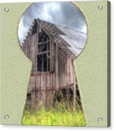 Old Barn Keyhole Acrylic Print