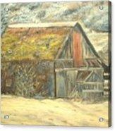 Old Barn Mossey Roof Acrylic Print