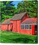 Old Barn Ridge Li.ny Acrylic Print