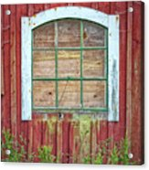 Old Barn Window Acrylic Print