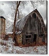 Old Barn Winter Acrylic Print