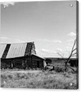 Old Barn With Tree Acrylic Print