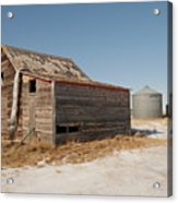Old Barns And A Grain Bin Acrylic Print