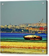 Old Barque Acrylic Print by Chaza Abou El Khair