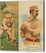 Old Baseball Cards Collage Acrylic Print by Don Struke
