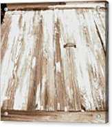 Old Basement Doors Acrylic Print by Colleen Kammerer