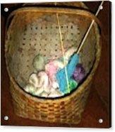Old Basket New Yarn Acrylic Print