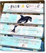 Old Beach Chair Acrylic Print