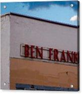 Old Ben Franklin Store 2 #vanishingtexas Rosebud Acrylic Print