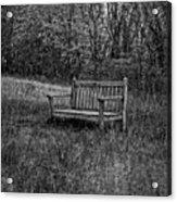 Old Bench Concord Massachusetts Acrylic Print